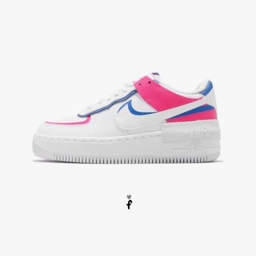 Nike Air Force 1 Shadow White Blue Pink