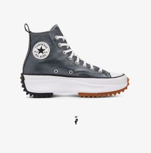 Run Star Hike Converse Negras Cuero