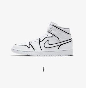 Nike Air Jordan 1 Mid Iridescent Reflective White