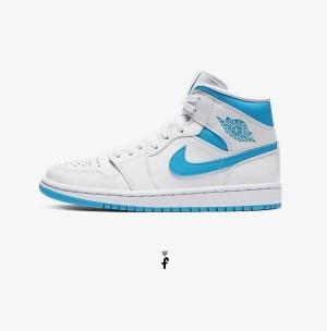 Nike Air Jordan 1 Mid UNC White Blue