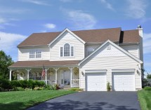 2 Car Garage with House