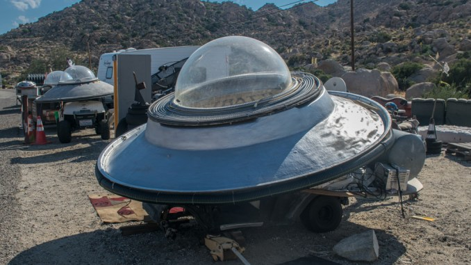 UFO at Coyotes Flying Saucer Repair Shop
