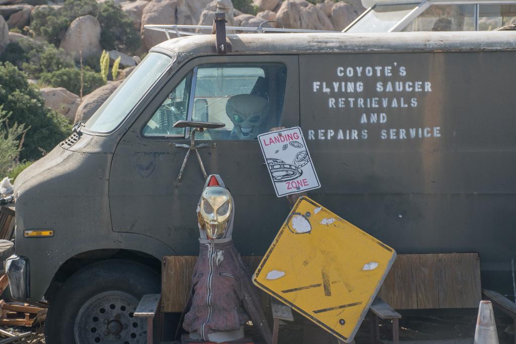Van at Coyotes Flying Saucer Repair Shop