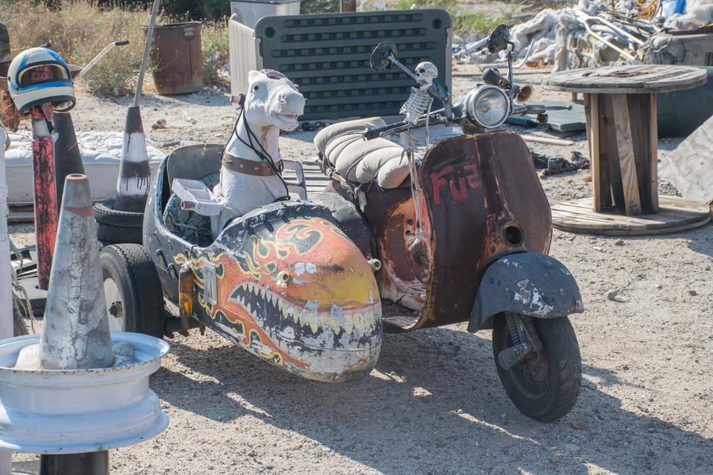 Motorcycle at Coyotes Flying Saucer Repair Shop
