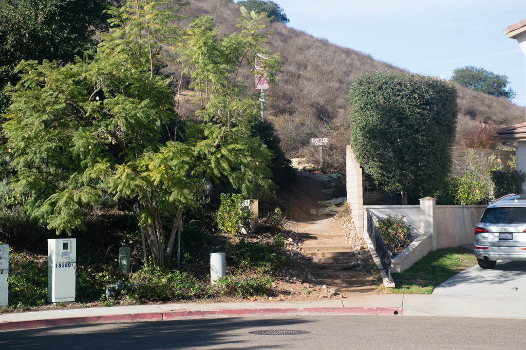 The start of the Battle Mountain Cross trail
