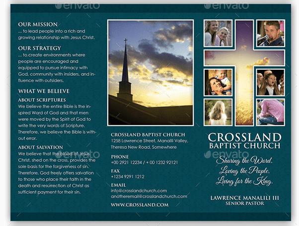 10 Popular Church Brochure Templates & Design – Free PSD JPEG EPS