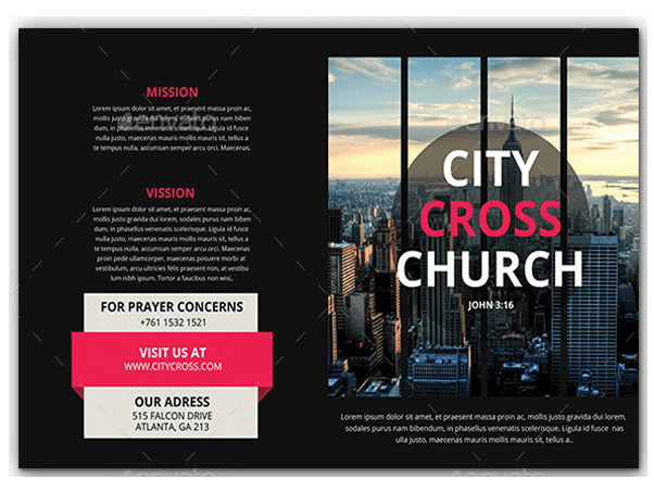 Church Welcome Brochure Samples Ideal Vistalist Co