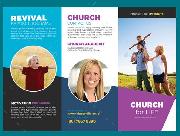 Church Brochure Examples Ideal Vistalist Co