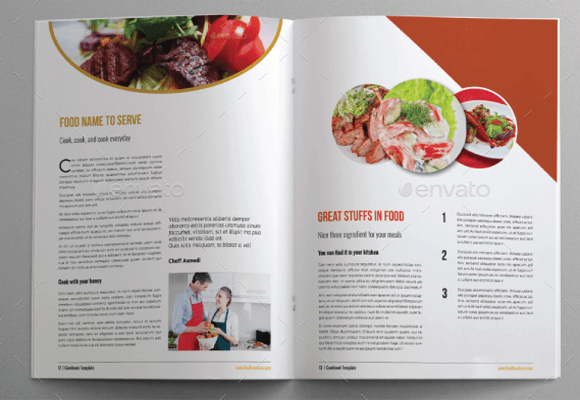 recipe book template pages