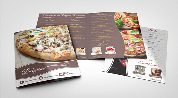 10 Amazing Food  Drink Brochure Templates  Free PSD AI