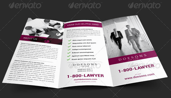 10 Well Designed Law Firm Brochures To Be Professional