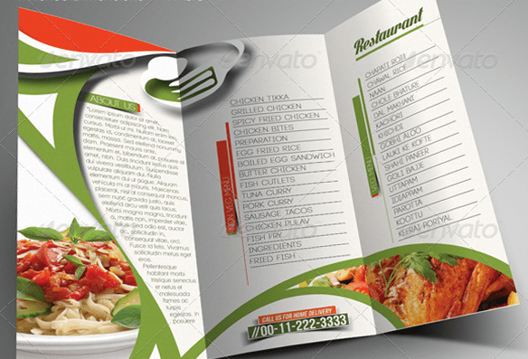 10 Amazing PSD Restaurant Brochure Templates For Inspiration