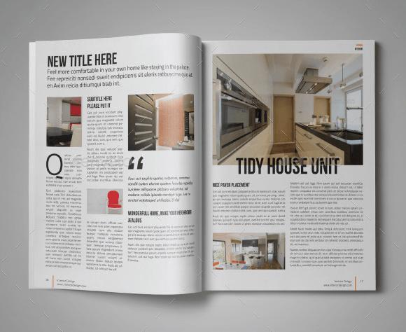 10 Modern Digital Home Magazine Templates For Free PSD