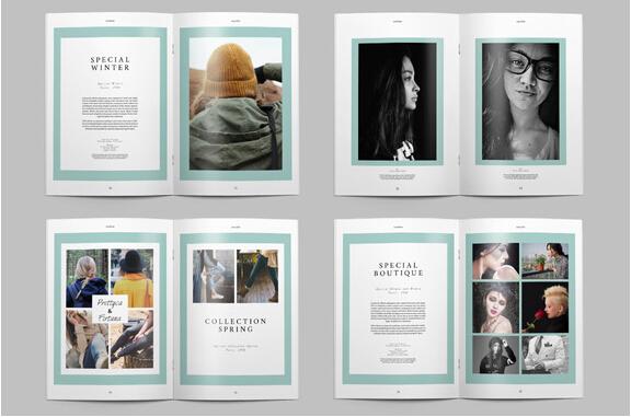 lookbook layout template