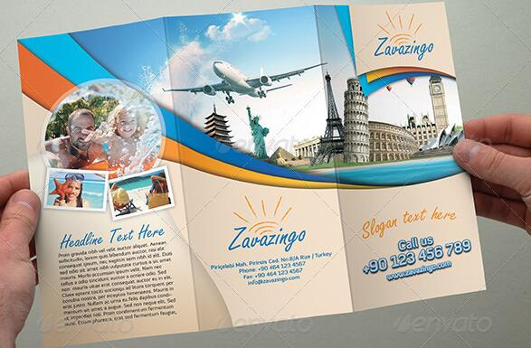 10 Beautiful Trifold Travel Brochure Tempaltes – PSD PDF Indesign
