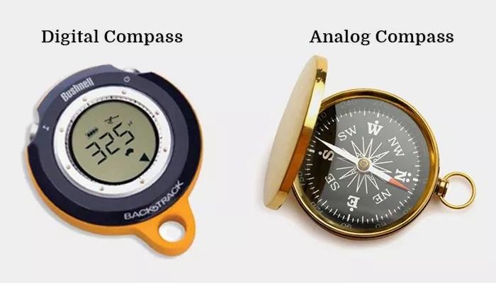 digital compass vs. analog compass