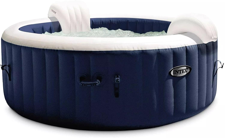 Intex 28429E PureSpa Plus 4 Person Portable Inflatable Hot Tub Spa