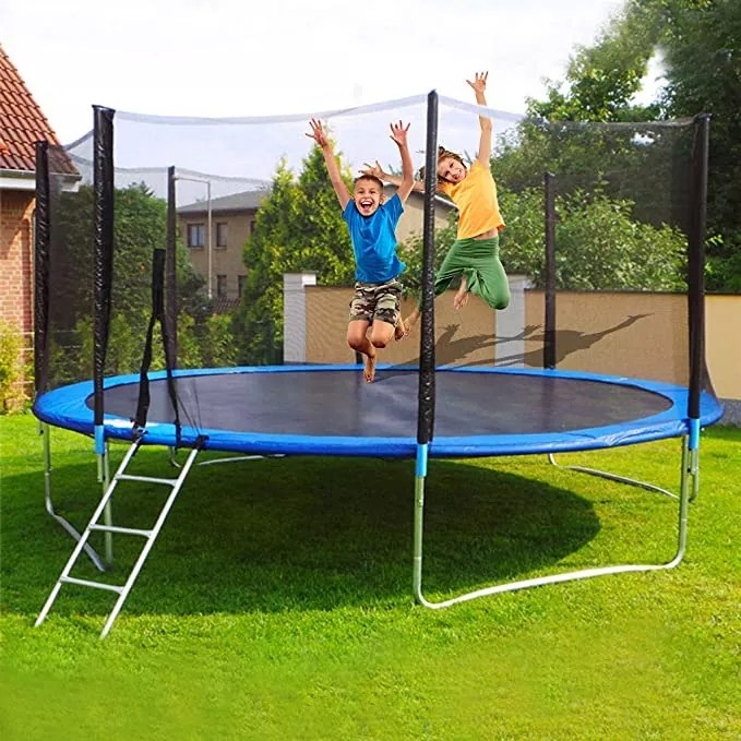 Minikoad 11.8ft Kids Trampoline with Enclosure Net and Spring Cover