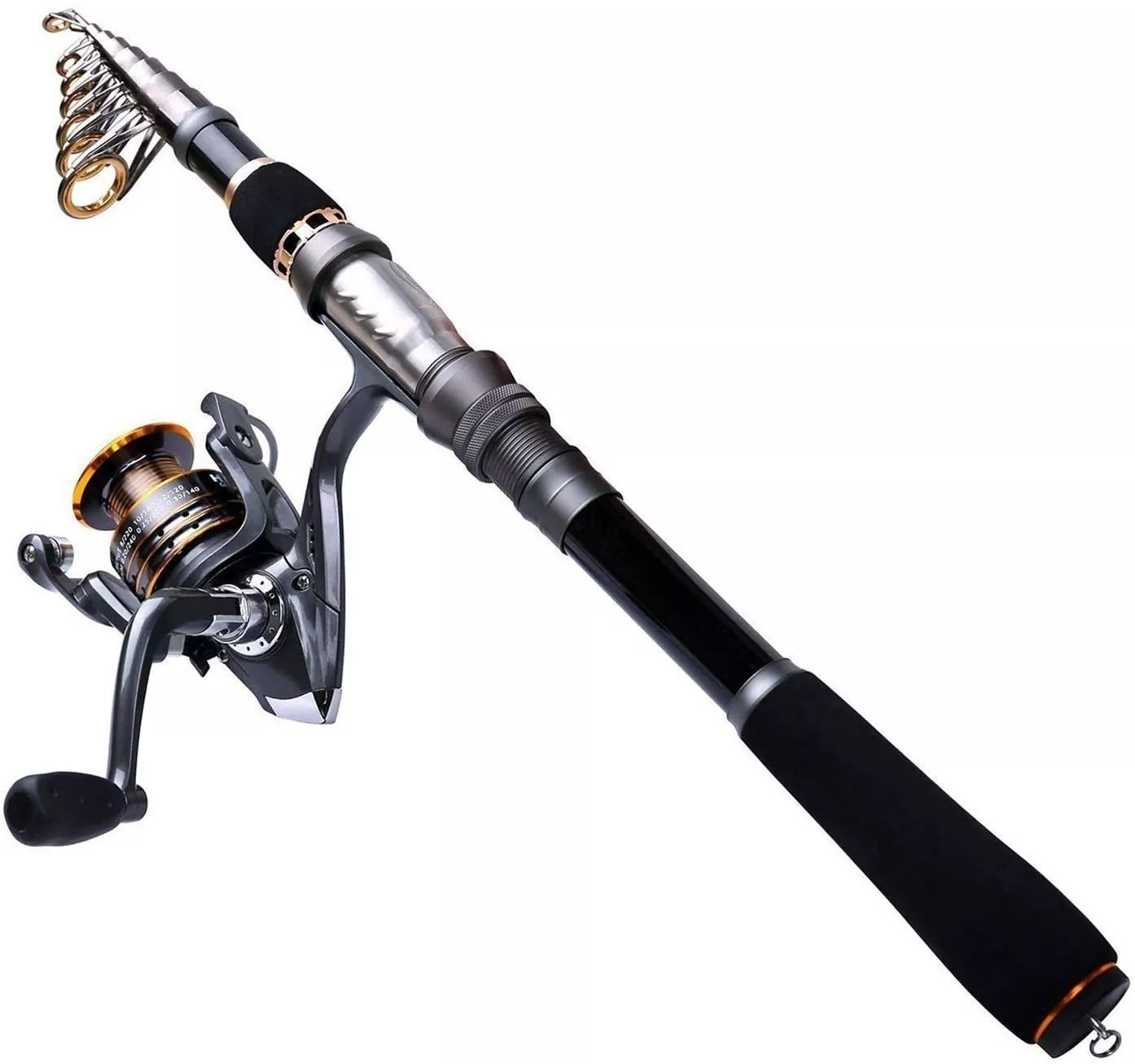 PLUSINNO Telescopic Fishing Rod and Reel Combos Full Kit, Carbon Fiber Fishing Pole