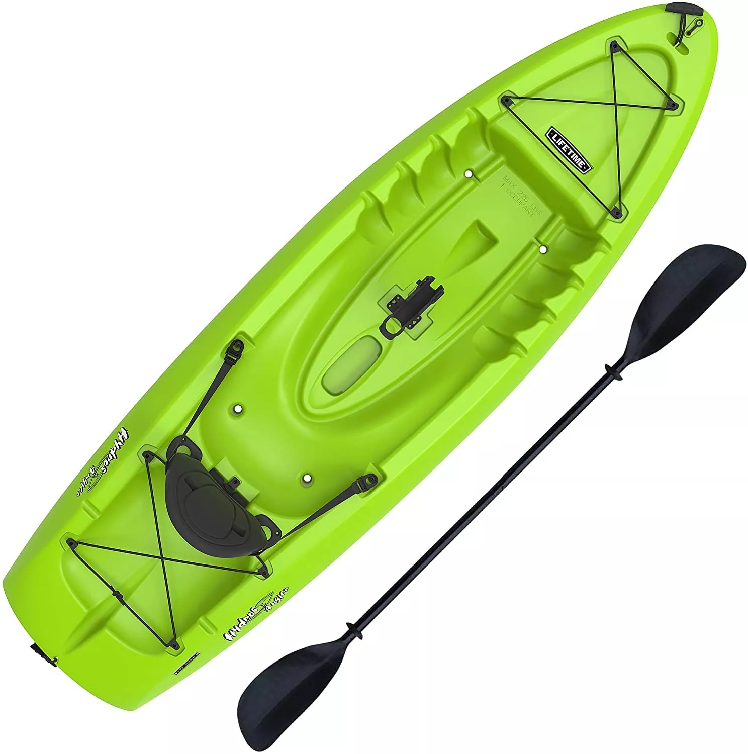 Lifetime Hydros Angler 85 Fishing Kayak (Paddle Included), Lime Green, 101 Inches