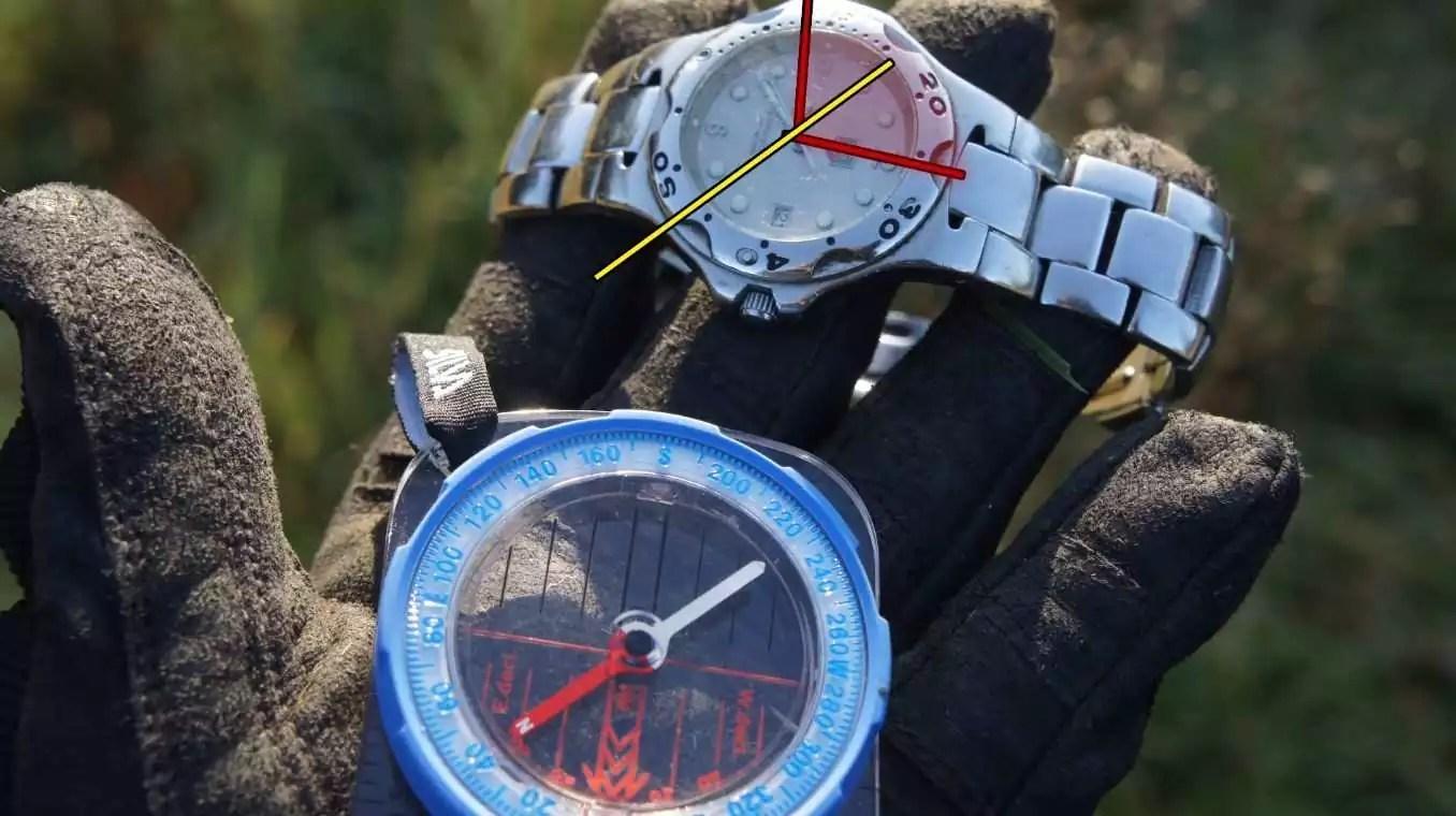Analog compass watches