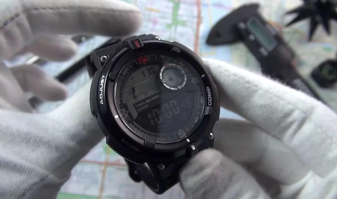 Digital compass watches