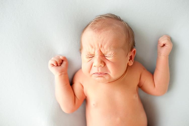Newborn baby Sneezing