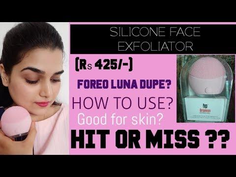 Mini Silicone Face Exfoliator Brush Review Demo Kalon Flipreview Com
