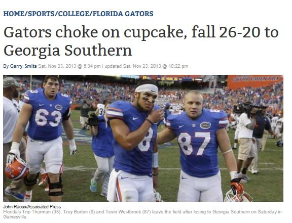 college football newspaper headlines