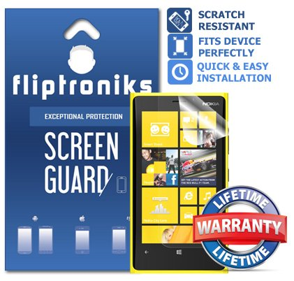Fliptroniks Clear Screen Protector for Nokia Lumia 920 with Lifetime Warranty 2 Pack