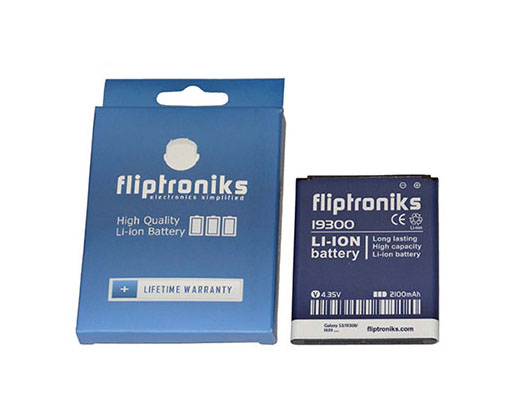 Fliptroniks 2100 mAh Li-ion Battery For Samsung Galaxy SIII GT-I9300