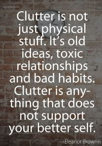 release, letting go, clutter
