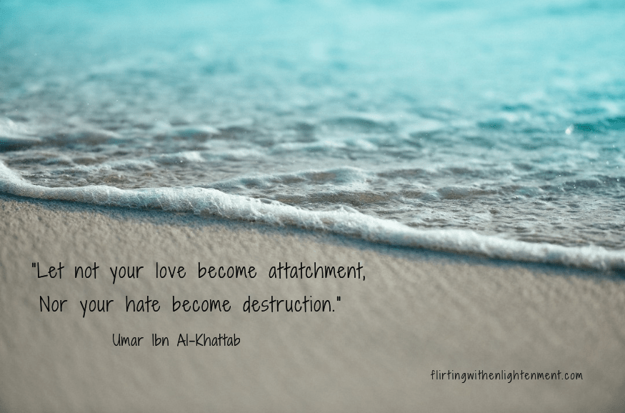 nonattachment, attachment, mindfulness, spirituality, practice, ocean, beach