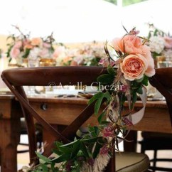 Wedding Bride And Groom Chairs Leather Chair Ottoman Set Wednesday Flirty Fleurs The Back Flowers