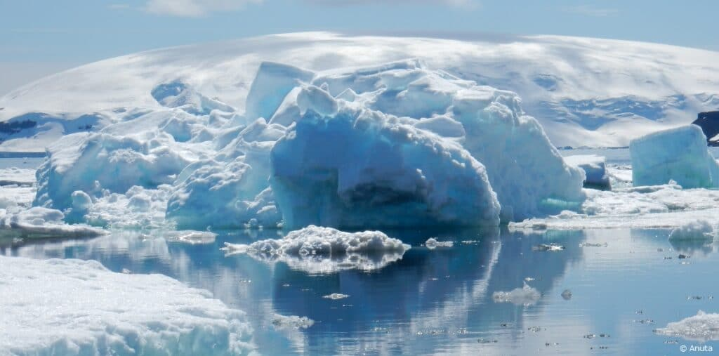 Snow and ice formations Antarctica