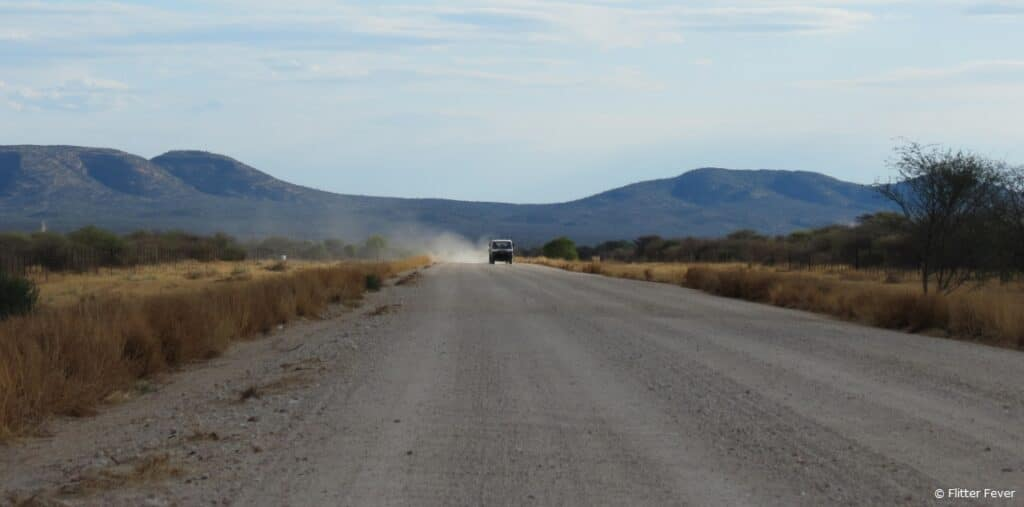 On the road Namibia Windhoek