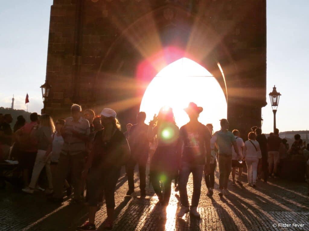 Entrance gate Charles Bridge Prague