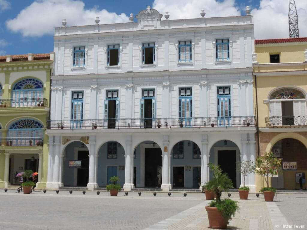 Beautiful architecture Plaza Vieja Havana old town Cuba
