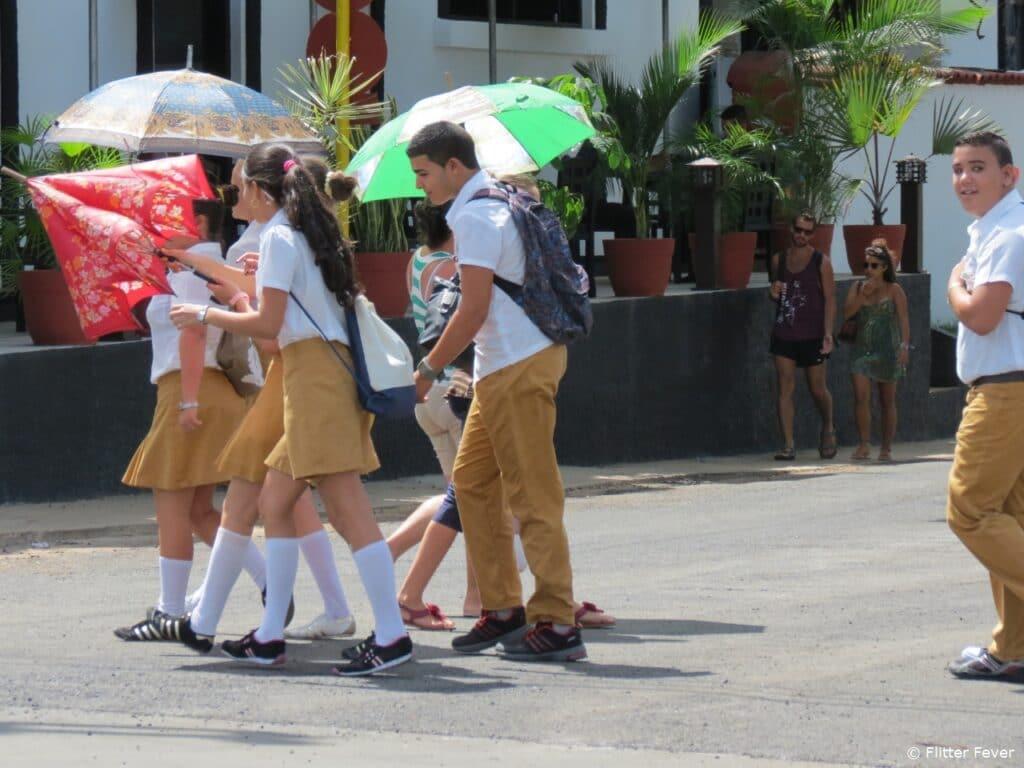 School kids in uniform Vinales Cuba