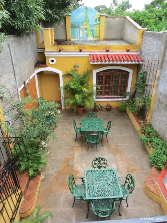 Hostal Las Margaritas courtyard Trinidad