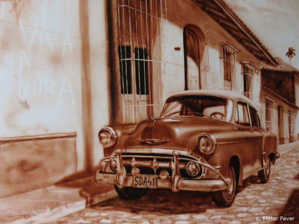 Viva Cuba oldtimer Trinidad art