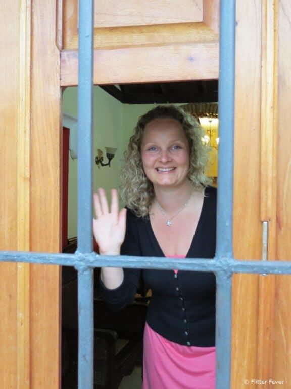 Me @ the front door gate of Hostal Las Margaritas in Trinidad