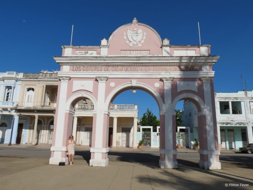 Pink arch Cienfuegos Cuba
