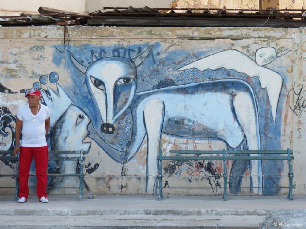 Street art Prado Havana Cuba