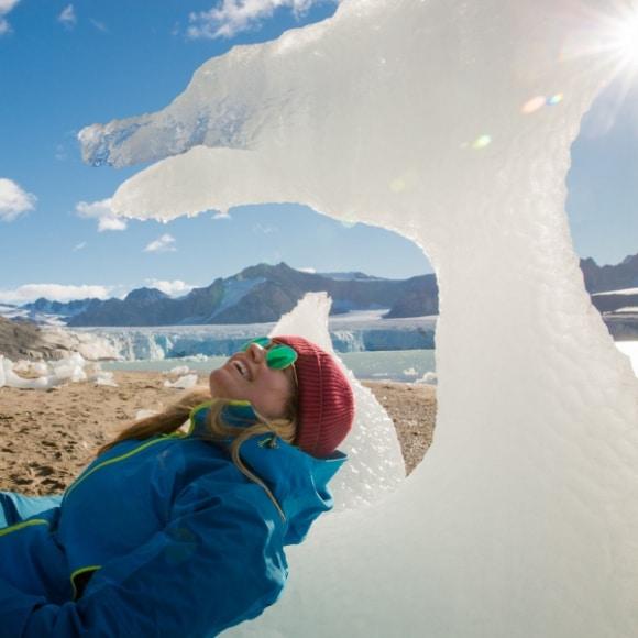 Liz in Svalbard