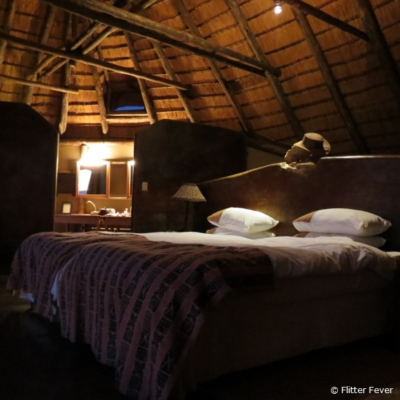 Bed with wheels - easy to move outside... @ Doro Nawas, Namibia