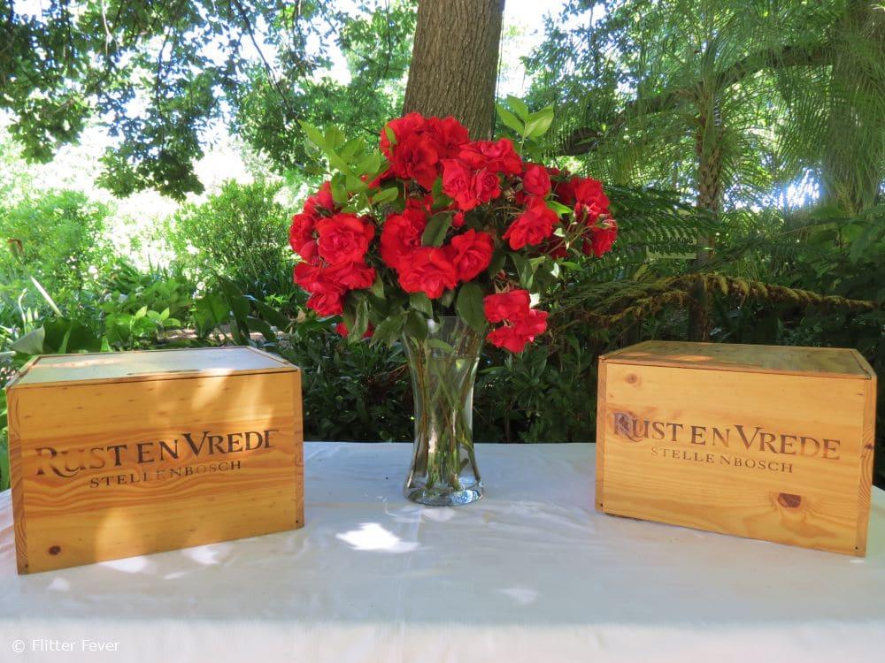 Red wine & Red roses @ Rust & Vrede, Stellenbosch