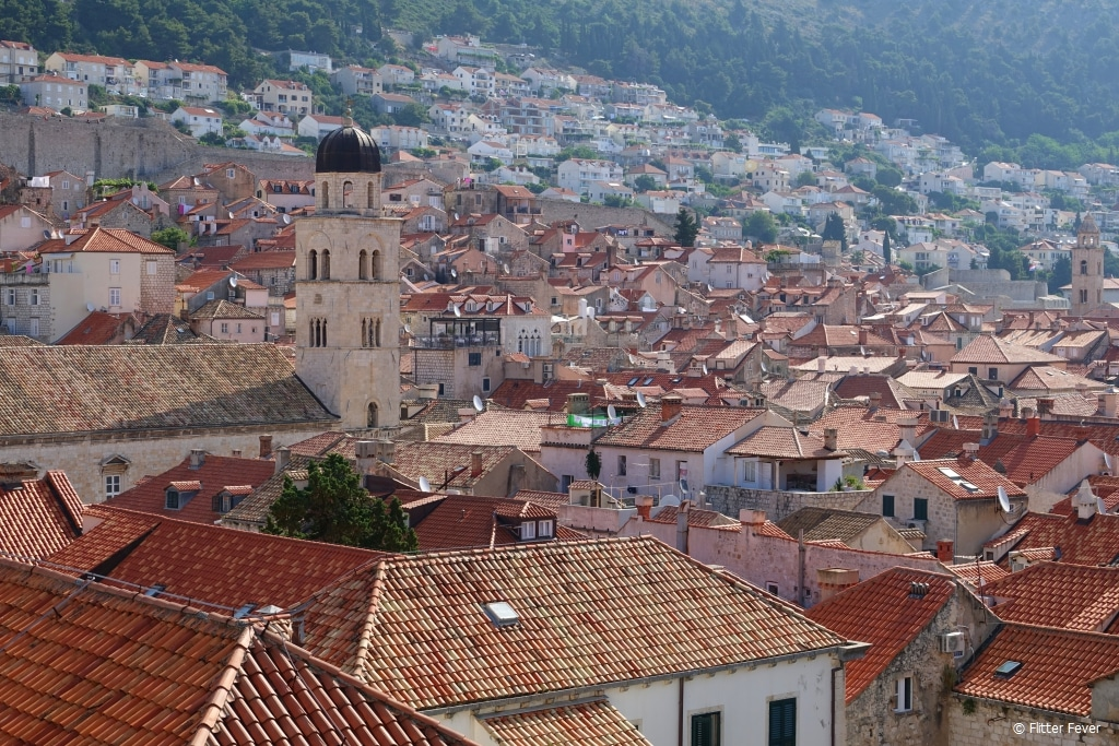 Roof top view from Dubrovnik old town wall