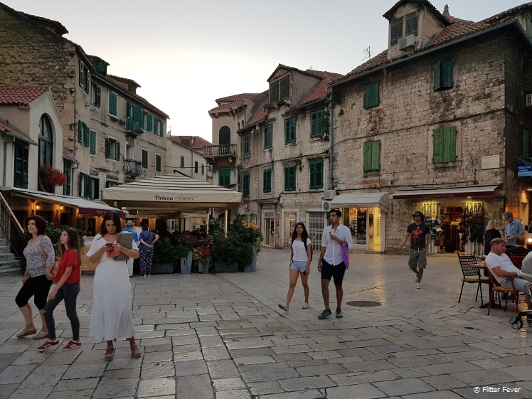 Trg Braće Radić (Square of the Radić brothers) a.k.a. Voćni trg (Fruit Square) in old town Split
