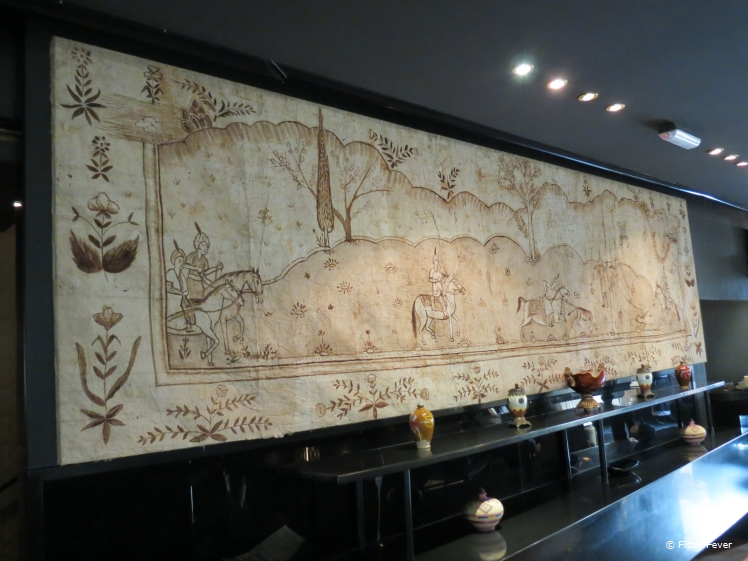 Middle Eastern art in Kuwaiti restaurant